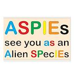 Aspie Species Postcards (Package of 8)