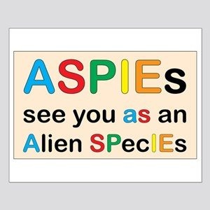 Aspie Species Small Poster