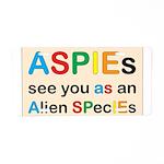 Aspie Species Aluminum License Plate