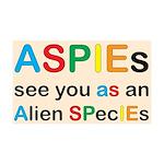 Aspie Species 38.5 x 24.5 Wall Peel