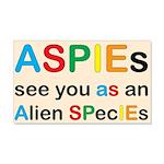 Aspie Species 22x14 Wall Peel