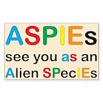Aspie Species Sticker (Rectangle 50 pk)