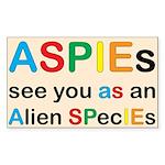 Aspie Species Sticker (Rectangle 10 pk)
