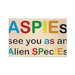 Aspie Species Rectangle Magnet