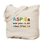 Aspie Species Tote Bag