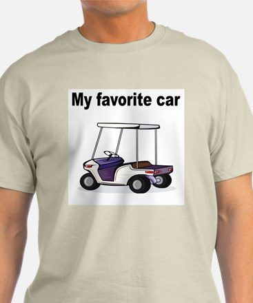 Golf Cart Ash Grey T-Shirt