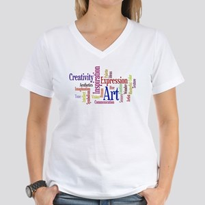 Artist Creative Inspiration Women's V-Neck T-Shirt