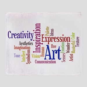 Artist Creative Inspiration Throw Blanket