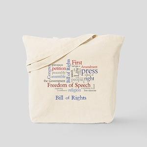 Freedom of Speech First Amendment Tote Bag