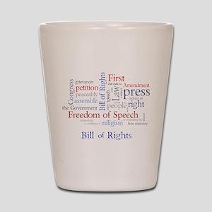 Freedom of Speech First Amendment Shot Glass