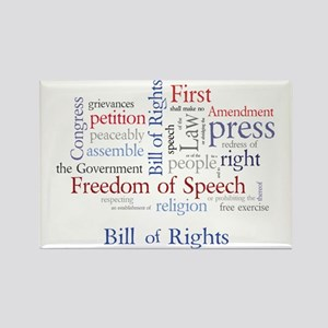 Freedom of Speech First Amendment Rectangle Magnet