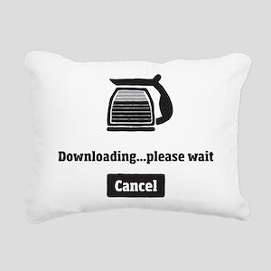 Coffee Downloading Rectangular Canvas Pillow