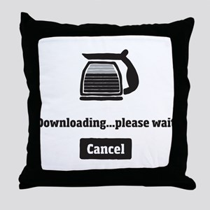 Coffee Downloading Throw Pillow