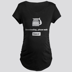 Coffee Downloading Maternity T-Shirt