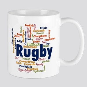 Rugby Word Cloud Mugs