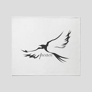 Dove of Peace Throw Blanket