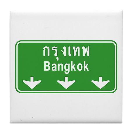 Bangkok Ahead Thai Sign Tile Coaster