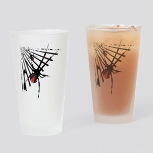 Redback Spider in Web Pint Glass