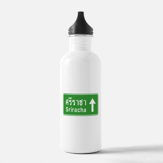Sriracha Highway Sign Water Bottle