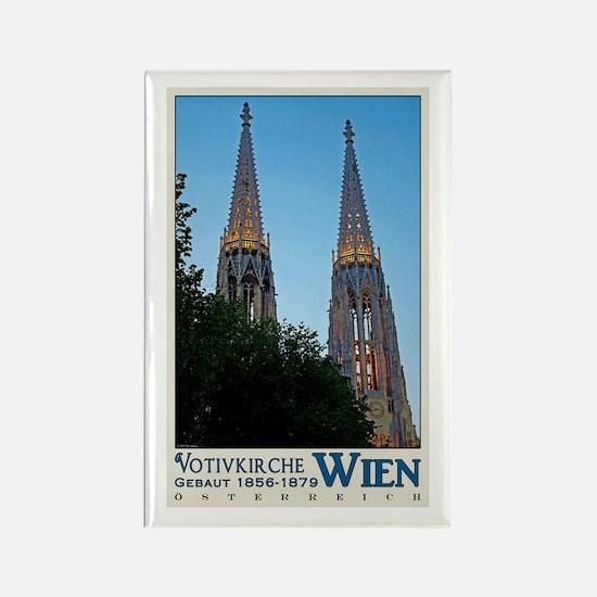 Vienna Votivkirche Rectangle Magnet
