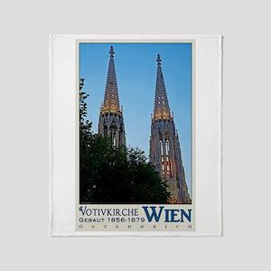 Vienna Votivkirche Throw Blanket