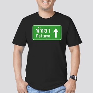 Pattaya Thailand Highway Sign Men's Fitted T-Shirt