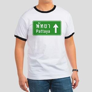 Pattaya Thailand Highway Sign Ringer T