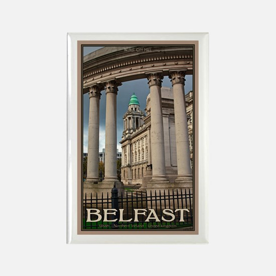 Belfast City Hall Rectangle Magnet (10 pack)