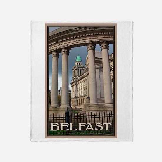 Belfast City Hall Throw Blanket
