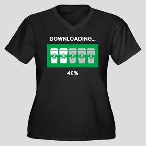 Coffee Downloading Plus Size T-Shirt