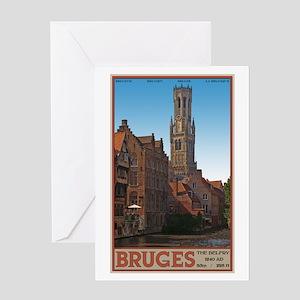 The Bruges Belfry Greeting Card