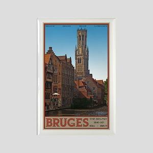 The Bruges Belfry Rectangle Magnet