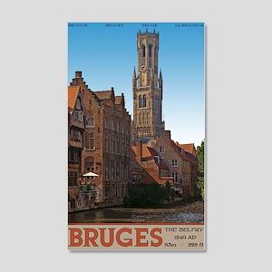 The Bruges Belfry 22x14 Wall Peel