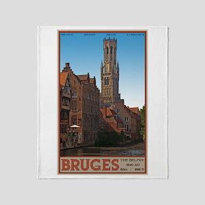 The Bruges Belfry Throw Blanket