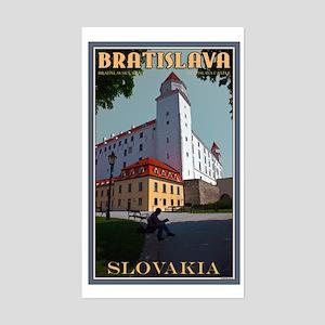 Bratislava Castle Sticker (Rectangle)