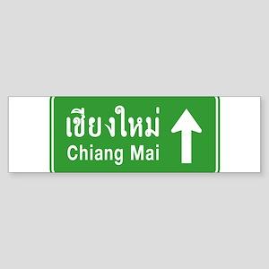 Chiang Mai Thailand Traffic Sign Sticker (Bumper)