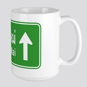 Chiang Mai Thailand Traffic Sign Large Mug