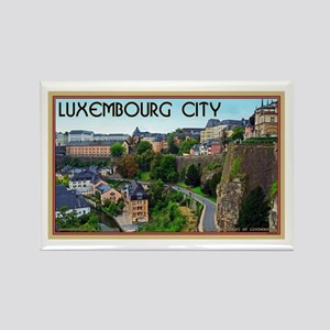 Luxembourg City Rectangle Magnet