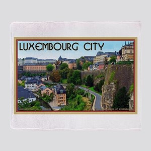 Luxembourg City Throw Blanket