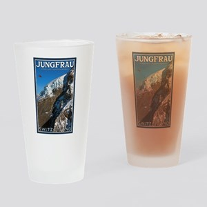 Helo over the Jungfraujoch Pint Glass
