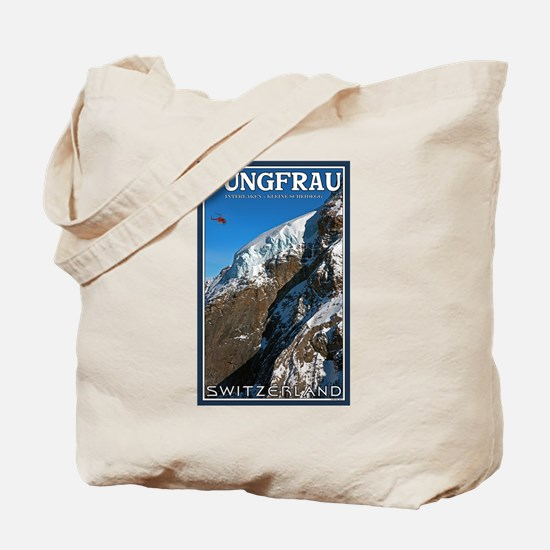 Helo over the Jungfraujoch Tote Bag