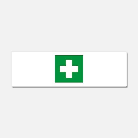 First Aid Car Magnet 10 x 3