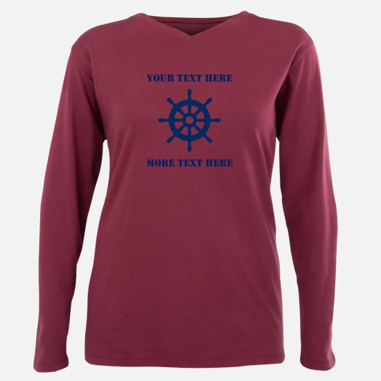 Custom Nautical Ship Wheel Maritime T-Shirt
