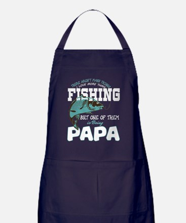 Fishing T Shirt, Papa T Shirt Apron (dark)