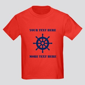 Custom Nautical Helm First Mate T-Shirt For Kids