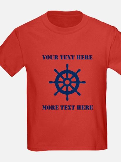Custom Nautical Helm First Mate T-Shirt For T