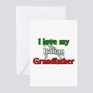 I Love my Italian Grandfather Greeting Cards (Pack