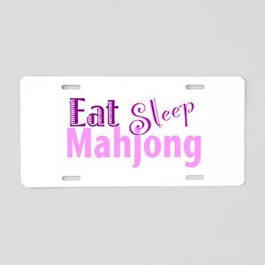 Eat Sleep Mahjong Aluminum License Plate