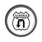 Illegals Turn-Around Wall Clock