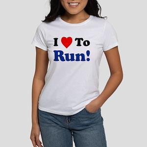 I Love To Run Women's T-Shirt